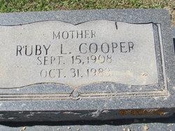 Ruby L <i>Horne</i> Cooper
