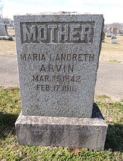 Maria <i>Landreth</i> Arvin