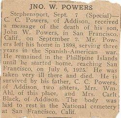 Pvt John W Powers