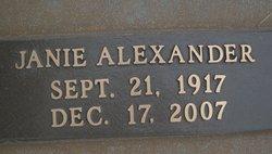 Janie Cornelius <i>Alexander</i> Brown
