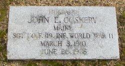 John E Coskery