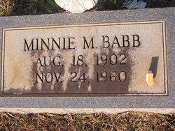 Minnie <i>Mitchell</i> Babb