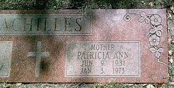Patricia Ann <i>Walter</i> Achilles