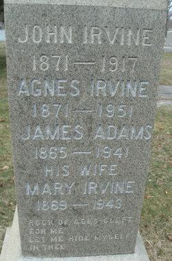 Mary <i>Irvine</i> Adams