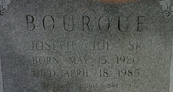 Joseph Joe Bourque, Sr