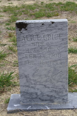 Alice <i>Grice</i> Brown