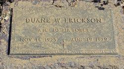 Duane W Erickson