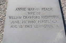 Annie Marvin <i>Peach</i> Hightower