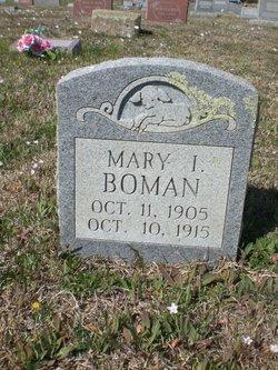 Mary I Boman