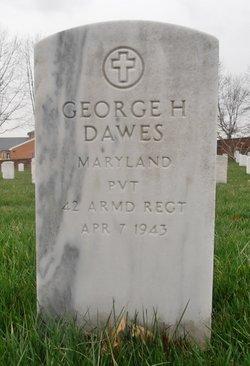 Pvt George H Dawes