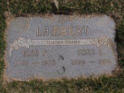 Elsa Pearl Elsie <i>Ritter</i> Lambert