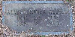 Alma <i>Groner</i> Allred