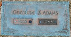 Gertrude <i>Basden</i> Adams
