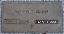 Zaddie <i>Taylor</i> Adams