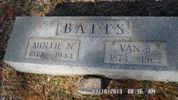 Mary Tennessee Mollie <i>Nicholson</i> Batts