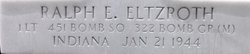 1Lt Ralph Edmund Eltzroth