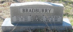 Hattie Rachel <i>Fisher</i> Bradburry