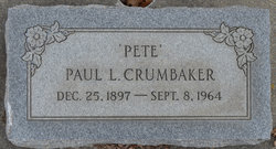 Paul L Pete Crumbaker