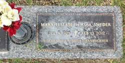 Mary Elizabeth <i>Rusk</i> Snyder