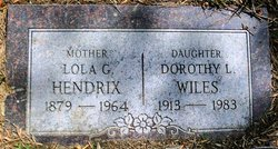 Dorothy L <i>Hendrix</i> Wiles