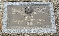 Pauline <i>Mathis</i> Adams