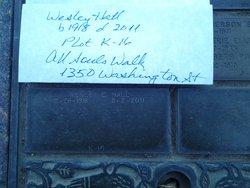 Maj Wesley H Wes Hall