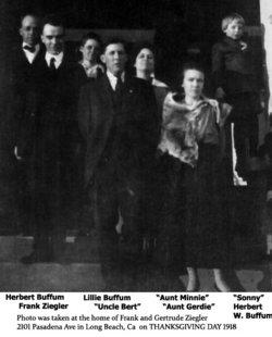 Clara Gertrude Gertie <i>Buffum</i> Ziegler