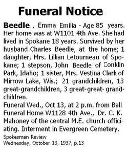 Emma Emilia <i>Glidden</i> Beedle