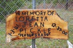 Loretta Jean <i>Pendergrass</i> Pickle