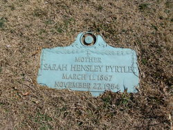 Sarah Frances <i>Hensley</i> Pyrtle