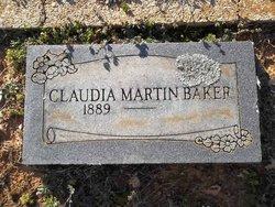 Claudia <i>Martin</i> Baker