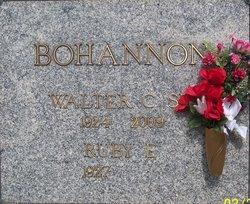 Walter C Bohannon, Sr