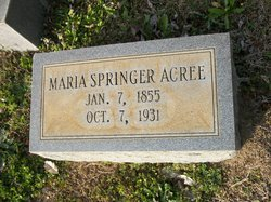 Maria <i>Springer</i> Acree