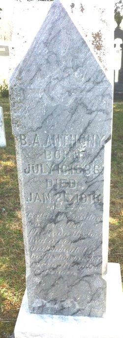 Pvt Benjamin H Anthony