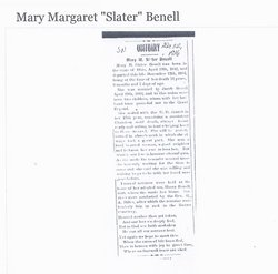 Mary Margaret <i>Slater</i> Benell
