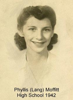 Phyllis Ann GG <i>Lang</i> Moffitt
