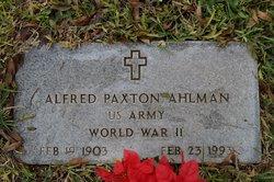Alfred Paxton Ahlman