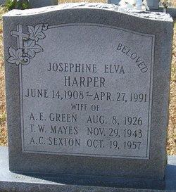 Josephine Elva <i>Harper Green</i> Sexton