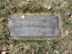 Jane D Becker