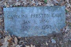 Caroline Preston <i>McKinney</i> Cabe