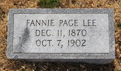 Fannie Page Lee