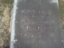 Mattie A. <i>Beaty</i> McCue