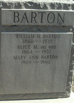 Alice M Barton