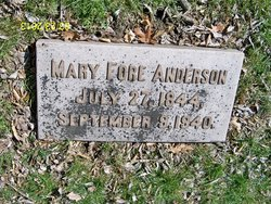 Mary <i>Fore</i> Anderson