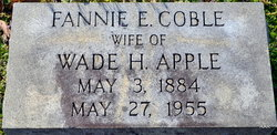 Fannie Ethel <i>Coble</i> Apple