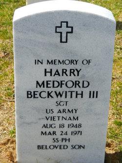 Sgt Harry Medford Beckwith, III