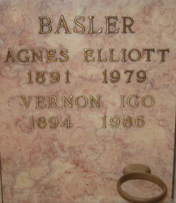 Agnes Elizabeth <i>Elliott</i> Basler