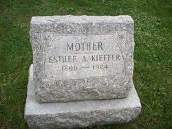 Esther A <i>Wickman</i> Kieffer