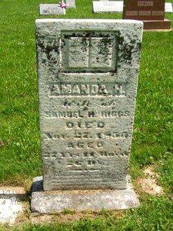 Amanda H <i>Brown</i> Riggs