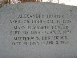 Dr Matthew W Hunter